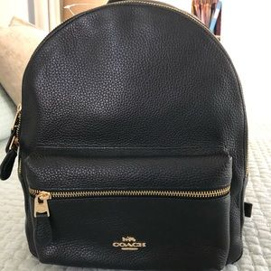 New Black Coach Backpack with tags